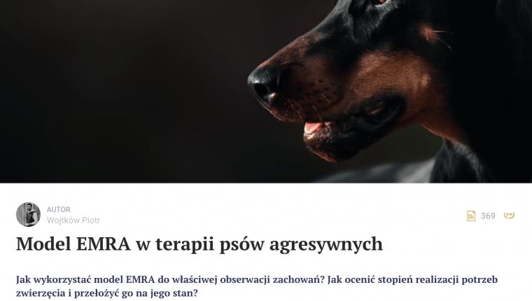 model emra w terapii psów agresywnych