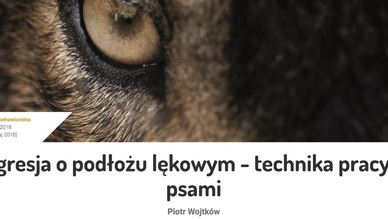 agresja o podłożu lękowym - technika pracy z psami